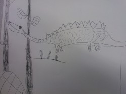 Experimenting with texture-dinosaurs