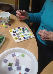 Mosaics with St Peter's House residents