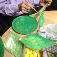 Painting garden art with St Peter's House residents
