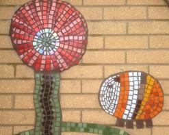 Detail of Abbotts Hall mosaic. Made by children
