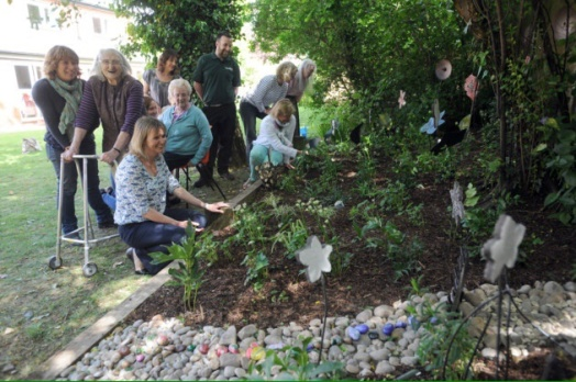 Mosaic garden at st Peter's House residential home