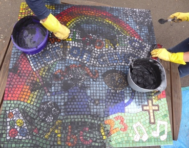 Grouting the Norton mosaic